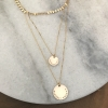personalized gold layering necklace