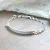 Skinny silver bar bracelet