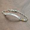 Custom silver ID bracelet