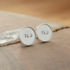 custom initials cuff links