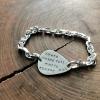 chunky silver men's bracelet