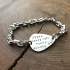 mens silver guitar pick bracelet