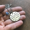 hand stamped quote necklace