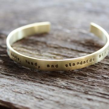 Personalized brass stacking bracelet
