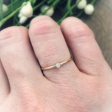 skinny gold stacking ring