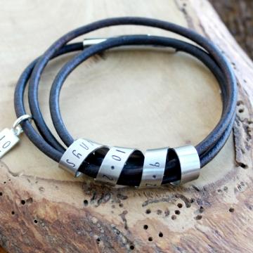 Custom Triple Wrap Secret Spinning Message Bracelet, Personalized Message, Hand Stamped, Emma Bracelet