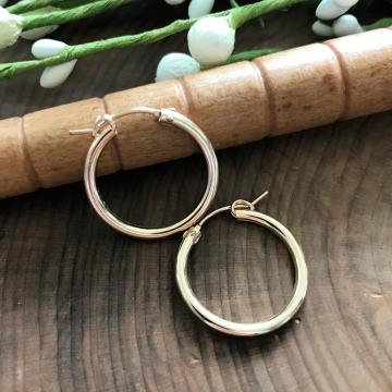 Gold Hoop Earrings, 14k Gold Filled Hoop Earrings, Everyday Gold Hoops