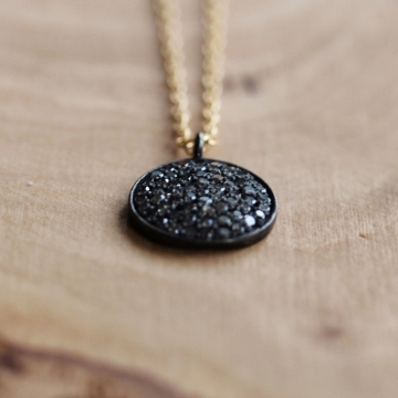 Pave Diamond Eclipse Necklace - A Symbol of Renewal