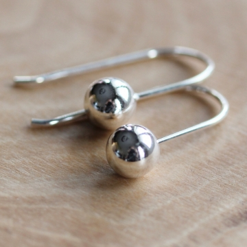 Sterling Silver Ball Dangle Earrings - Abundance Dangle Earrings
