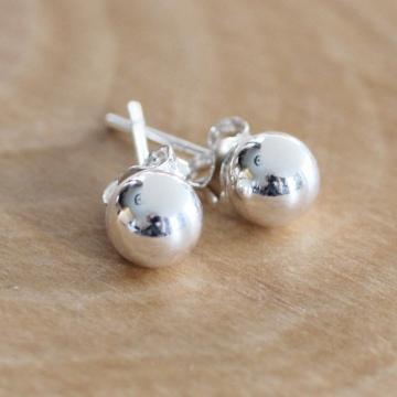 Sterling Silver Ball Post Earrings - Abundance Stud Earrings