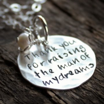 Personalized Thank You For Raising The Man Of My Dreams Necklace