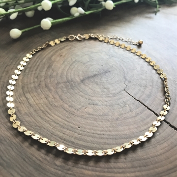 Miranda Gold Coin Convertible Necklace and Bracelet, Wear It Two Ways