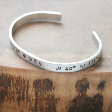 Personalized Skinny Cuff Hand Stamped- Say It Like It Is