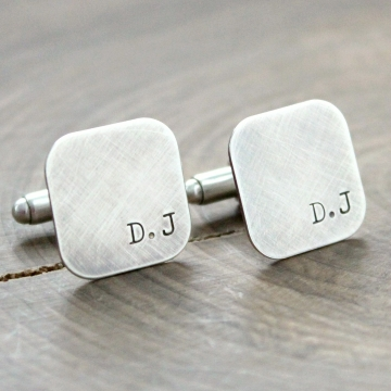Personalized Sterling Silver Men's Cuff Links - The Douglas Links
